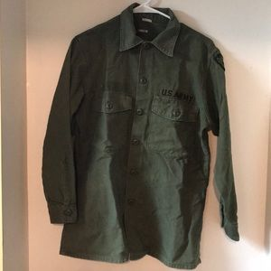 Vintage US Army button top